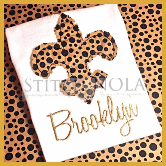 Shabby Black and Gold Fleur de lis T-Shirt or Bodysuit