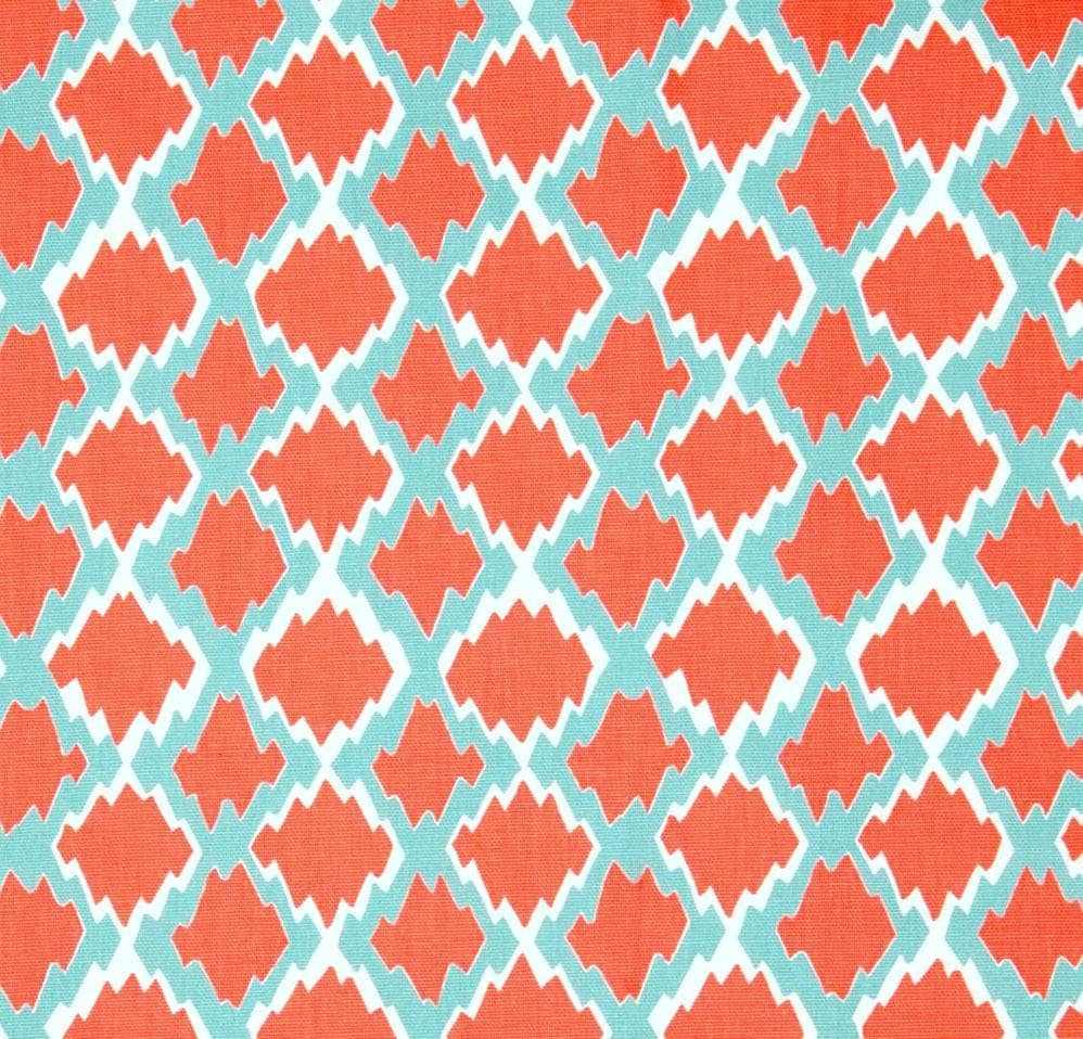 Home Decor Fabric: Boho Coral Home Decor Fabric By The Yard Designer By