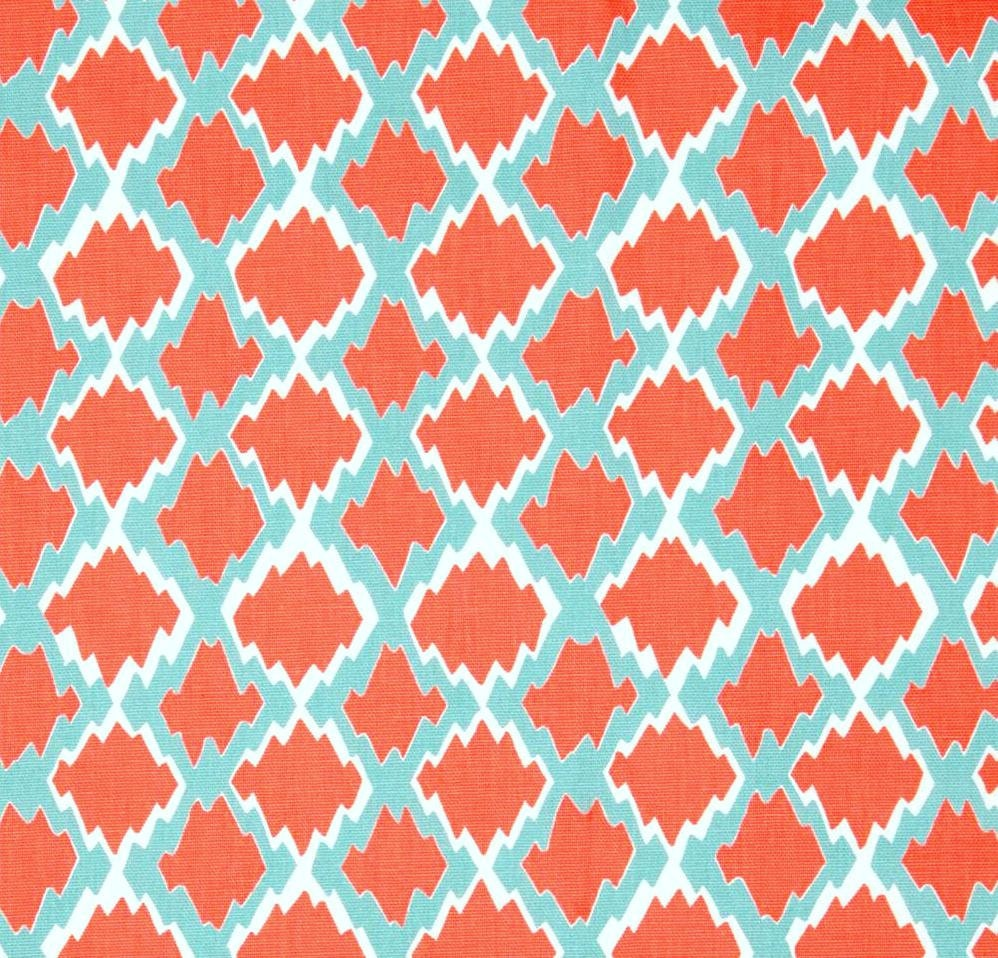 Boho coral home decor fabric by the yard designer by for Home decor fabric