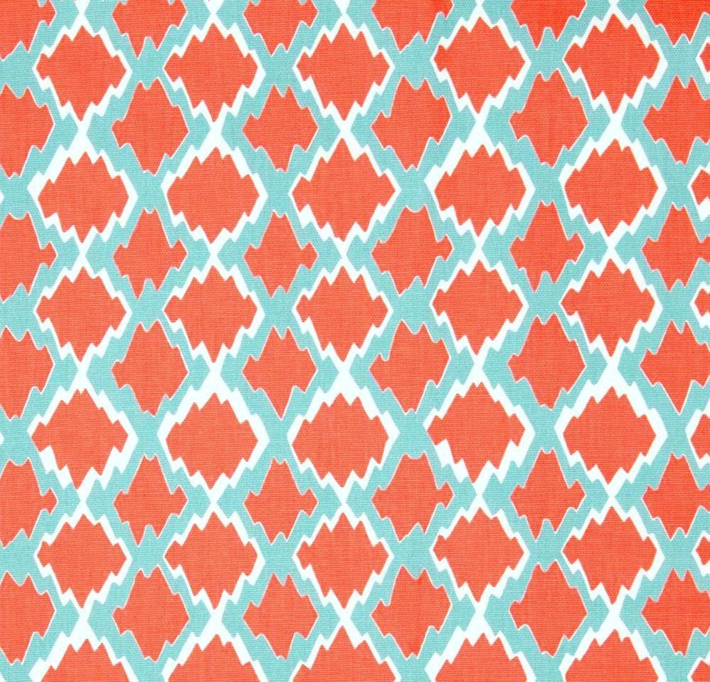 fabric yard coral decor boho designer etsy upholstery geometric drapery modern