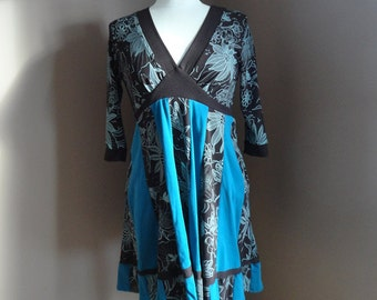 Teal and Brown Tunic Top