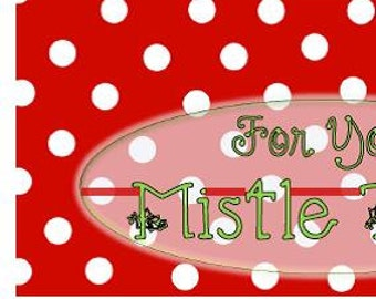 """Mistle """"Toes"""" Gift Tag"""