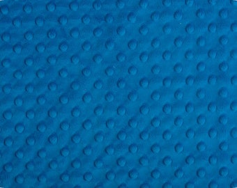Electric Blue Cuddle Minky Dot Fabric  (Shannon Fabrics) Royal Blue