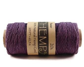 Purple Hemp Cord 20 lb 205 ft
