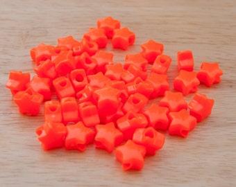 90 Star Neon Orange Pony Beads - Orig. price 3.75