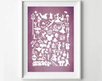 Custom Colour  Disney Movie Poster - Movie poster, Minimalist print, Digital Art Print