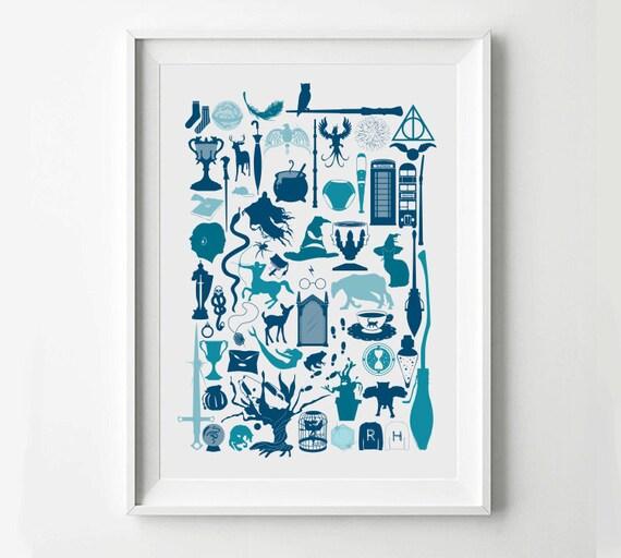 Harry Potter Movie Poster Minimalist Print Digital Art