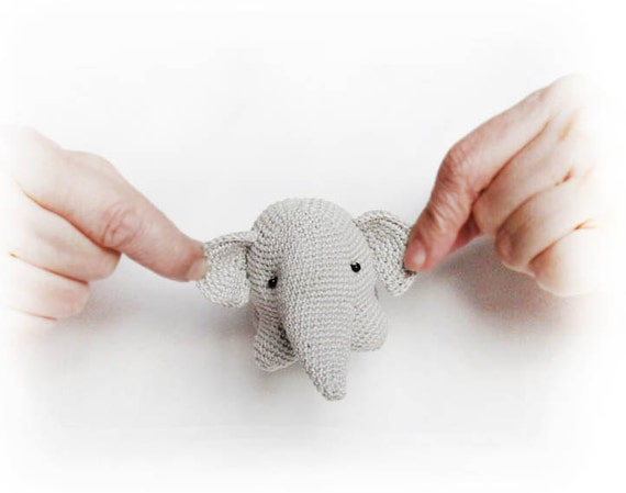 Pattern elephant crochet, crochet toy, amigurumi, elephant ...
