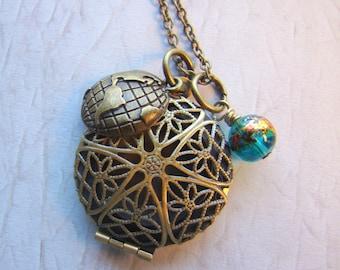 Adventure Essential Oil Diffuser Necklace, Aromatherapy Pendant
