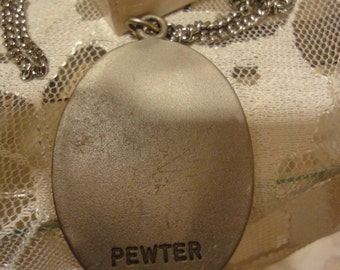 Two Pewter Vintage Necklaces