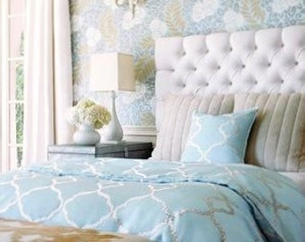 Queen Diamond Tufted Headboard Choose your fabric. Linen, Velvet, Chenille and Printed fabrics.