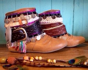 Size 6-9 Handmade Gypsy Hippie Women's Boots