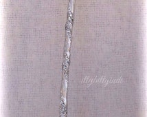 Glinda the Good Witch Wand Wizard of OZ inspired long stem silver wand