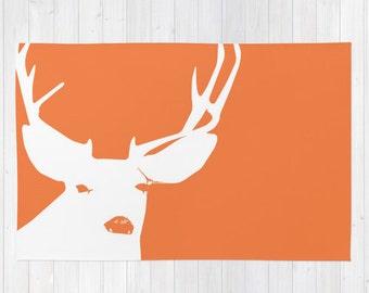 Deer Rug, Deer Nursery Decor, Woodland Rug, Woodland Nursery Decor, Animal Nursery Decor, Animal Rug, Woodland Animal Rug