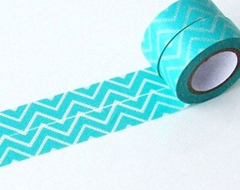 Blue Chevron Washi Tape