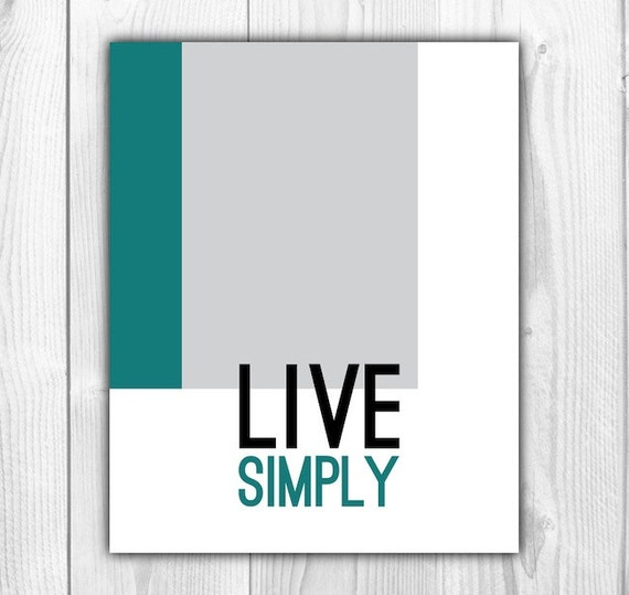 Items similar to inspirational print live simply quote for Live simply wall art