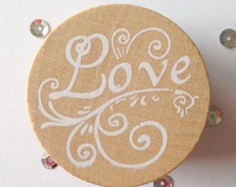 Stamp Love (Stamp Love), around (Round), 4 cm wide (wide)