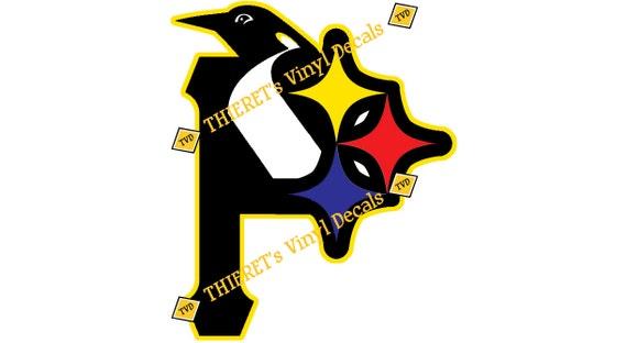 Pittsburgh Sports Teams Trilogo Vinyl Car Decal Laptop Decal - Custom vinyl decals pittsburgh
