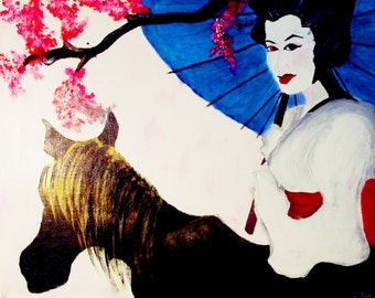 Painting: Beneath the Cherry Blossoms