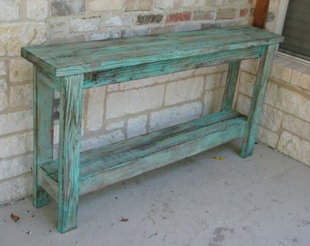 Rustic Sofa Table, Wall Table, Decor Table, Entry Way Table made from Reclaimed Wood