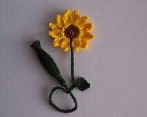 Bookmark Crochet Daisy Flower Beautiful Gift Item