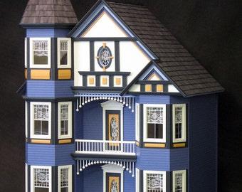 Dollhouse Kit, DIY Dollhouse, The Painted Lady Unfinished Dollhouse Kit