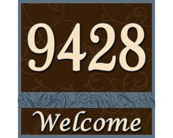 12X12 Aluminum House Number Address Plaque