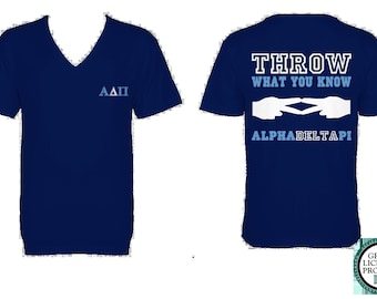 Alpha Delta Pi Throw What You Know American Apparel V-Neck Tshirt - ADPi V-Neck