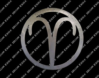 Aries Metal Wall Art Pendant Astrology Zodiac Horoscope Ram USA Made