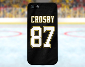 Sidney Crosby - Pittsburgh Penguins Case: iPhone 4/4S, 5/5S/SE, 5C, 6/6S, 6 plus/6S plus / Samsung Galaxy S3, S4, S5, S6, S7