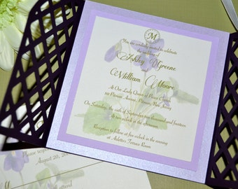Inspired Collection - Violet Garden Gate-fold Invitations