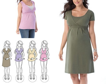 Simplicity Sewing Pattern 1469 Maternity and Nursing Knit Top or Dress