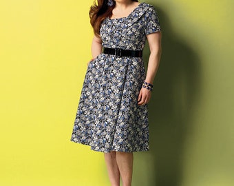 Butterick Sewing Pattern B5930 Misses'/Misses' Petite/Women's/Women's Petite Shawl Collar Dresses