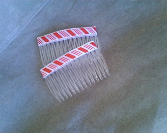 Hair combs Candy cane  fashion combs  Hair accessories