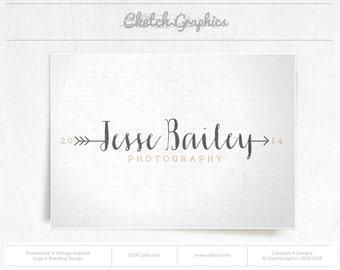"Pre-made Logo Design - Vintage Logo Design - ""Jesse Bailey Photography"""