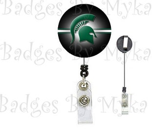 Retractable ID Badge Holder - Michigan State