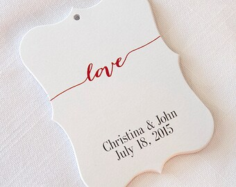 Wedding Tags, Love Customized Wedding Tags, Wedding Favor Tags  (EC-007)