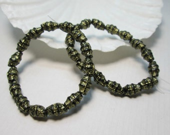 Bronze Czech Glass Beads Rustic Crustacean