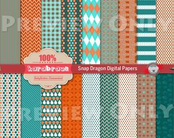 Snapdragon digital papers, digital images, printables, patterns, backgrounds, digital clipart [SA4-002]