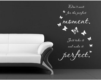 Perfect Moment wall decal, sticker, mural, vinyl wall art