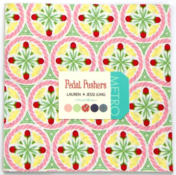 Layer Cake Quilt Fabric : New Moda PETAL PUSHERS Quilt Fabric Layer Cake 10