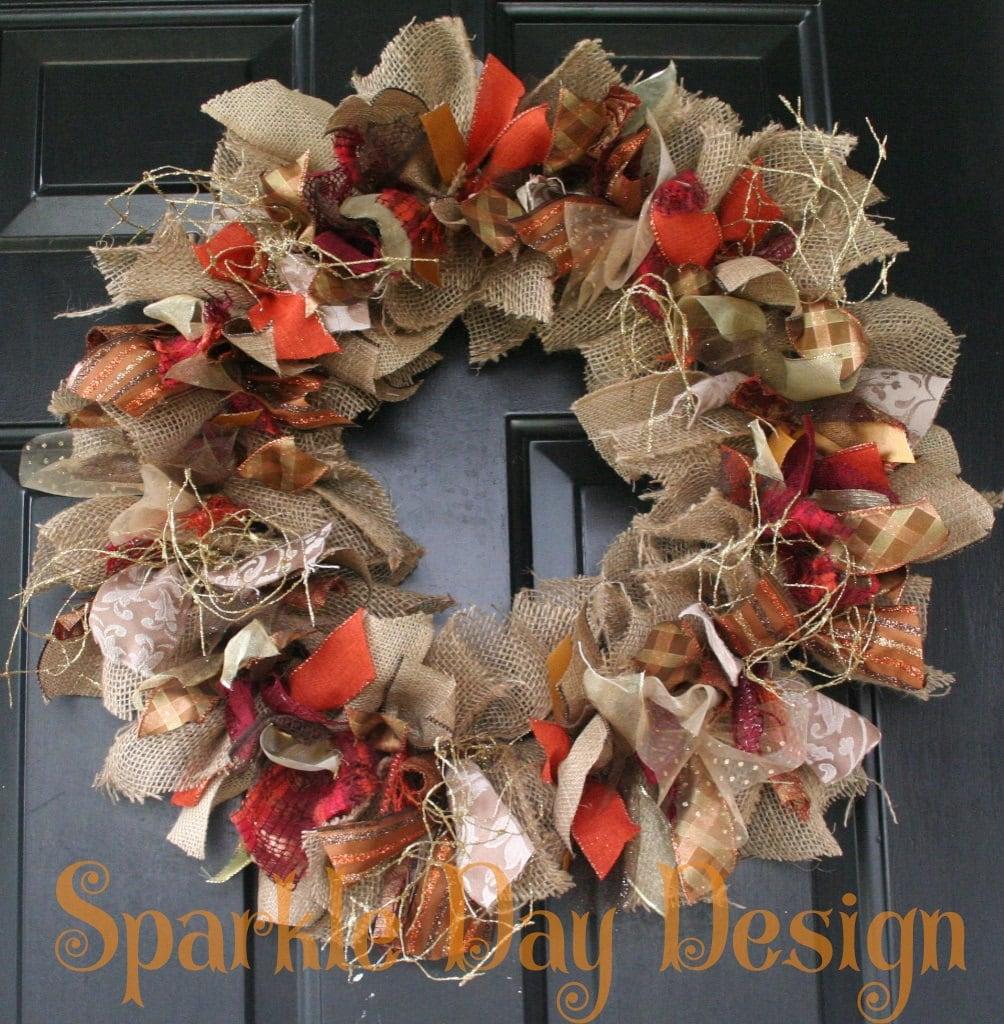Fall Wreath Thanksgiving Wreath Burlap Fall Wreath Fall Colors