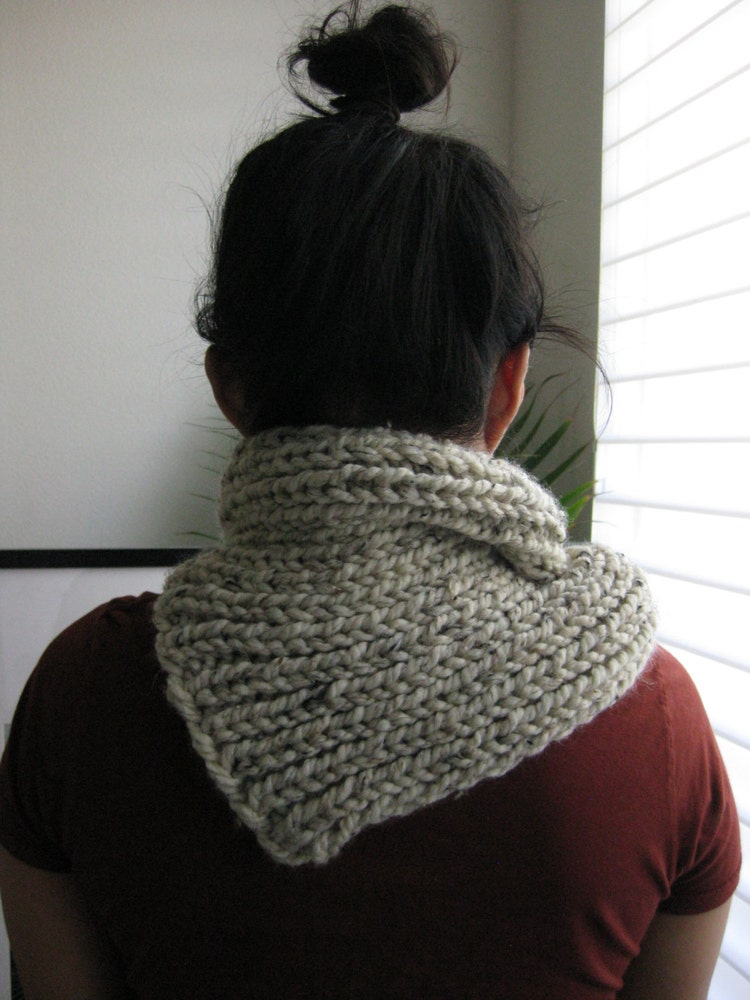 Braided Cowl Knitting Pattern : PATTERN for Chunky Knit Cowl Braided by FuzzyCloudDesigns on Etsy
