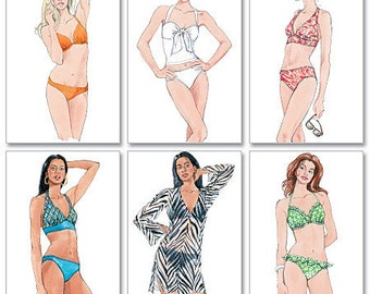 McCall's Pattern M5400 Misses' Two-Piece Bathing Suit and Cover-Up