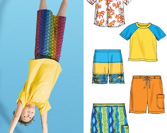 McCall's Pattern M6548 Children's/Boys' Shirt, Top and Shorts