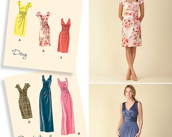 OUT of PRINT Simplicity Pattern 1420 Misses' Dress in Two Lengths with Bodice Variations
