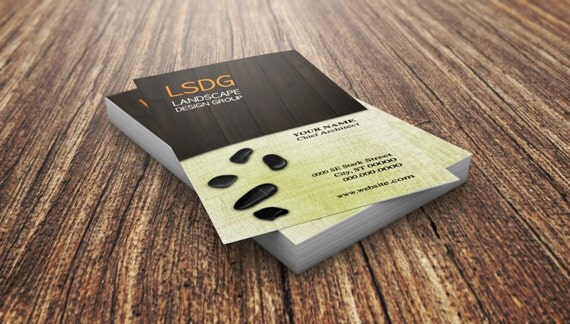 Custom Business Card Landscape Design Landscape Pre made