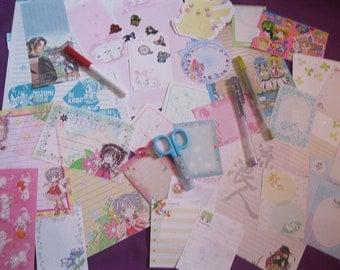 Super Cute Anime/Manga Paper Ephemera (set F)