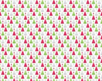 Riley Blake Home for the Holidays Multi Trees Doodlebug Designs 1 yard SALE