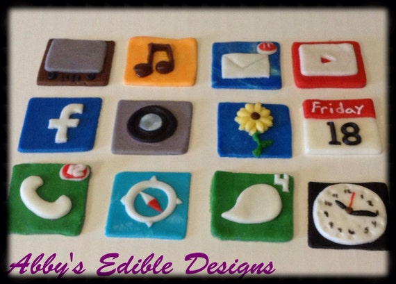 Edible Cake Images Iphone : iPhone iPad cake topper EDIBLE IPHONE CAKE Topper
